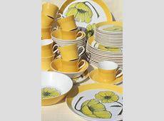 60s vintage Mikasa duet Duplex china dinnerware set, mod
