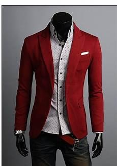 mens slim fit premium button jacket pocket point blazer
