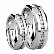 his and hers 6mm 8mm created diamonds titanium wedding