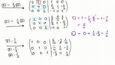 4 9 2 aufgabe zur berechnung der inversen matrix