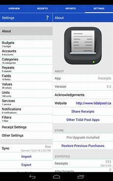 receipts android tablet english evernote app center