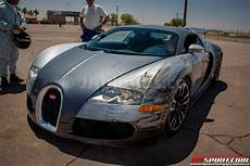 Buggati Veyron Crash by Car Crash Bugatti Veyron Fender Bender On The Race Track