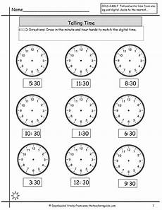 time worksheets hour and half hour 2913 telling time worksheets from the s guide