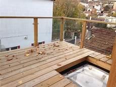 terrasse bois et balustrade verre roland pons ebeniste