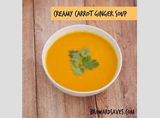 creamy carrot soup  low fat_image