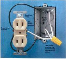 which wire is black or white home wiring
