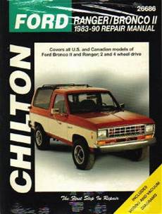 free online auto service manuals 1986 ford bronco seat position control 1983 1990 ford ranger bronco ii repair manual by chilton