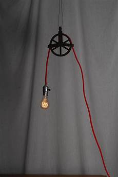 Luminaire Sur Poulie En Metal Antique Pully Light 2