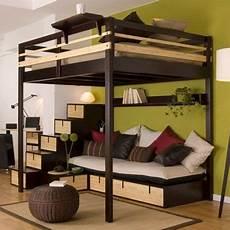 hochbett mit couch pin auf indoor