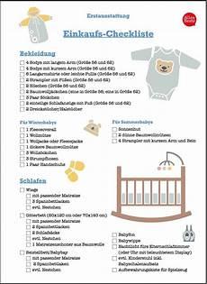 Checkliste Baby Erstausstattung Winter Pdf