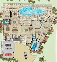 mediterranean house plans with pool coastal style house plan number 71543 with 4 bed 6 bath
