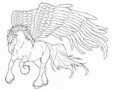pegasus lineart by requay on deviantart