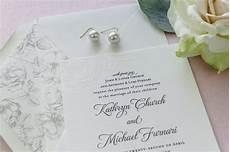 Floral Letterpress Wedding Invitations