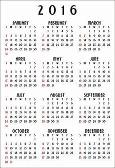 12 month calendar 2016 vertical free stock photo