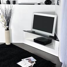 Meuble Tv D Angle Design Blanc Id 233 Es De D 233 Coration