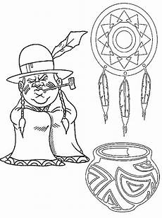 american indian coloring pages for