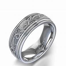 vintage scroll design men s wedding ring in platinum