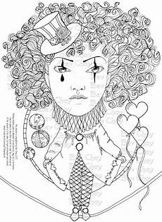 adult coloring page harlequin by bevchoyart on etsy my