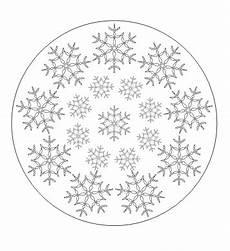 Ausmalbild Schneeflocken Mandala Schneeflocken Mandala Mandala Ausdrucken