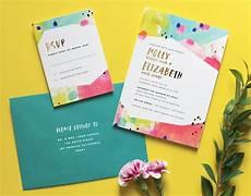 Colourful Wedding Invitations
