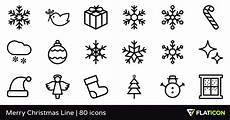 merry christmas line 80 free icons svg eps psd png files