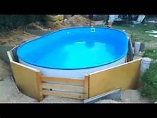 pool in erde einbauen stahlwandpool ohne bodenplatte betonplatte aufbauen