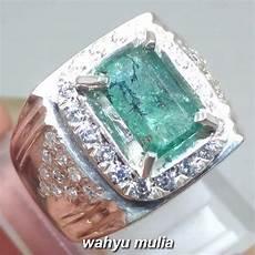 Zamrud Emerald Beryl 2 5 Ct cincin batu zamrud kotak emerald beryl colombia asli kode