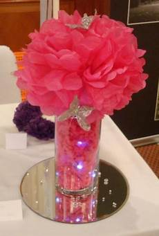 diy centerpiece colored shredded paper in dollar store