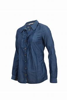 tom tailor damen bluse chambray patches 2017157 ebay