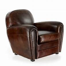 fauteuil en cuir fauteuil club cuir marron havane saulaie