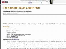 the road not taken lesson plan for 9th 12th grade lesson planet