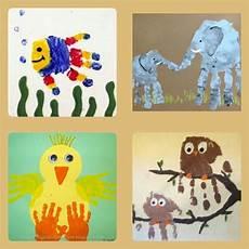 handabdruck bilder tiere animal handprint arts and crafts to do at