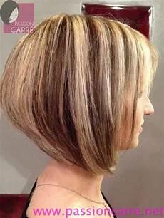 modèle coupe de cheveux femme coupe carre plongeant meche