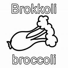 Malvorlagen Englisch Kostenlose Malvorlage Englisch Lernen Brokkoli Broccoli