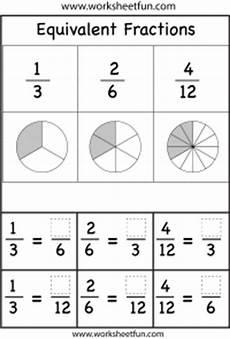 equivalent fractions two worksheets free printable worksheets worksheetfun
