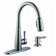 glacier bay kitchen faucet installation glacier bay 900 series single handle pull sprayer kitchen faucet in stainless steel with