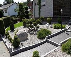 Gartengestaltung Steine Vorgarten - bilder vorgarten mit steinen