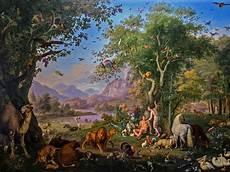 et creation adam and earthly paradise by austrian painter wenzel adam garden of painting