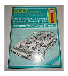 old cars and repair manuals free 1984 mitsubishi space engine control mitsubishi colt workshop manual ebay