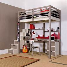 minimalist loft beds for adults with desk underneath