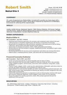 medical biller resume sles qwikresume