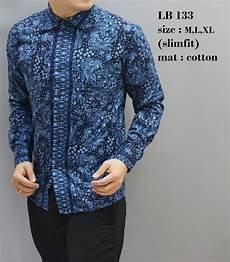jual kemeja batik panjang baju pria lengan panjang lb133 batik kantor panjang batik kemeja