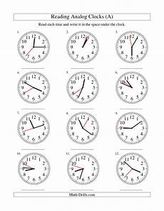 time reading worksheets 3166 new 2012 12 29 measurement worksheet reading time on an analog clock in 1 second interva