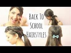 5 fast heatless hairstyles for school youtube