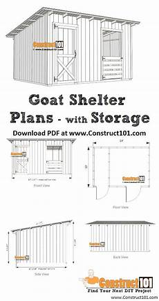 goat housing plans 10x14 goat shelter plans with storage pdf download
