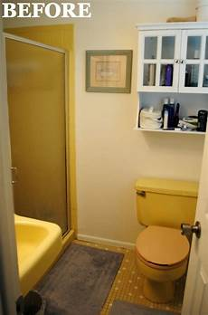 Small Bathroom Ideas Yellow by A 1965 Bathroom Gets A Much Needed Overhaul Powder Room