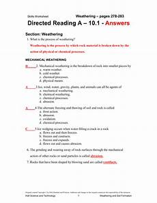 holt earth science directed reading worksheets answer key pdf wintoosa com