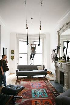 living room flying trapeze in 2019 wohnung