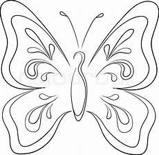 Malvorlage Maske Schmetterling Butterfly Contours Vector Colourbox