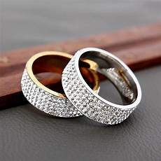 h hyde 5 row lines clear crystal wedding rings for fashion rhinestone stainless steel